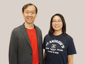 Mr Au Chee Ping and Christabel Low