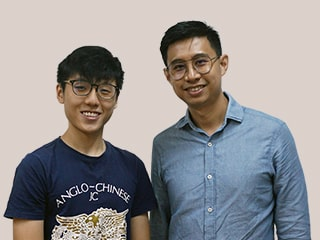 Mr Koh Chee Wee and Jeremy Ng